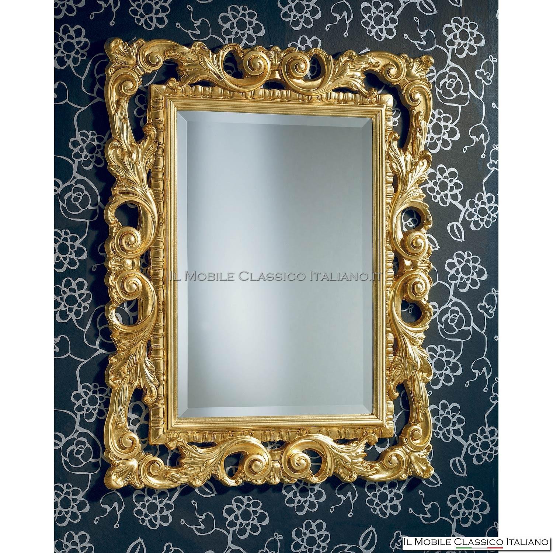 Specchio Rettangolare Fascia Colorata Eidos Bontempi : Specchio con cornice ghiaccio bottoni