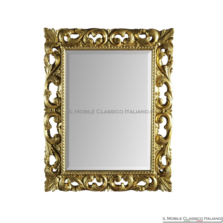 Specchio con cornice barocca 71885 94x94 for Specchio cornice nera barocca
