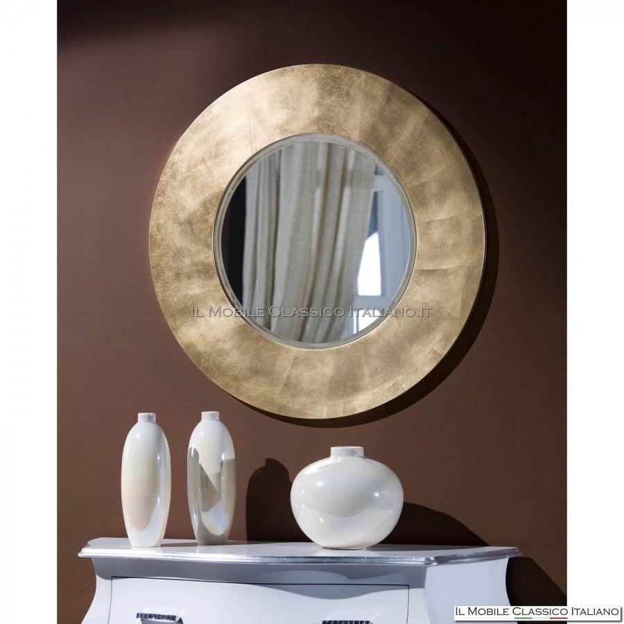 Specchio ingresso rotondo specchiera da ingresso classica for Specchi barocchi