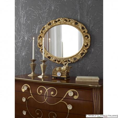 Specchiera ovale artigianale