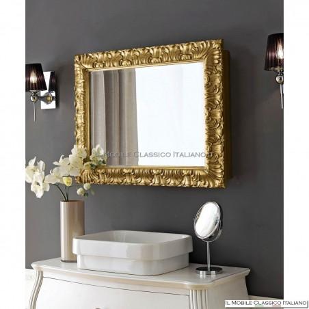Specchiera specchio rettangolare con contenitore cod. 70684O