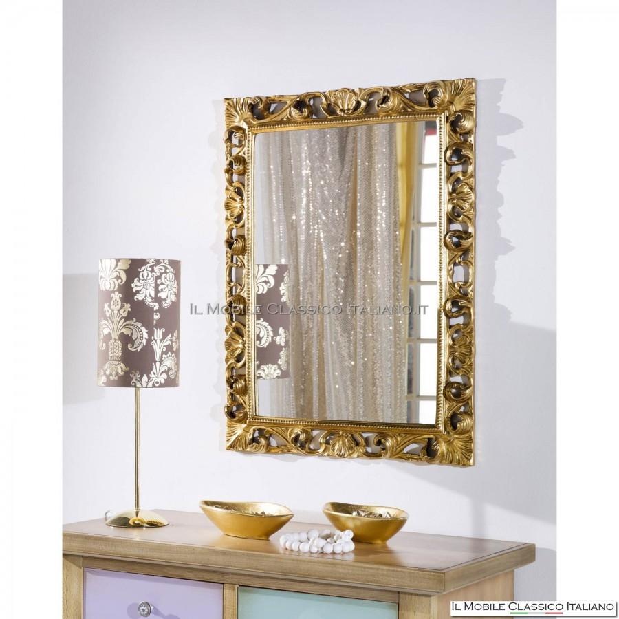 Specchio barocco foglia oro specchiera barocca for Specchi barocchi