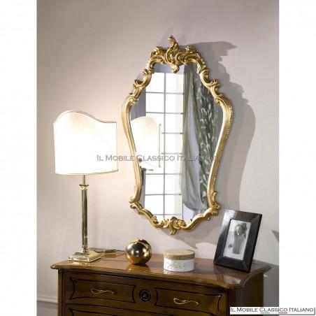 Specchio barocco bagno foglia oro