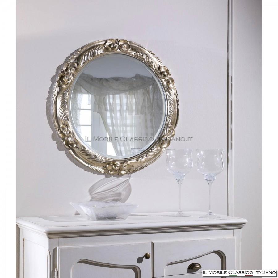 Specchiera barocca rotonda intagliata specchiere barocche for Specchi barocchi