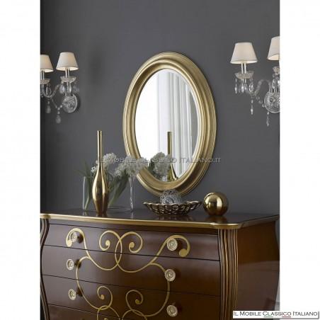 Specchio contemporaneo ovale da camera 70046 (88x68)
