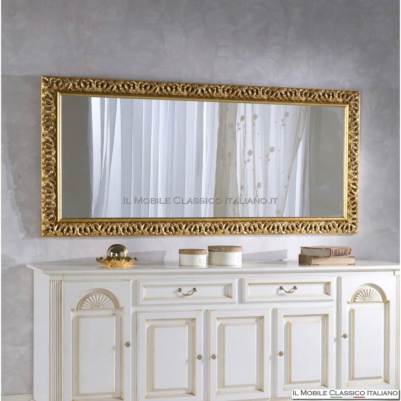 Specchiera antica rettangolare - Specchio antico classico