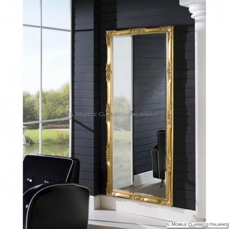 Specchio da terra in legno