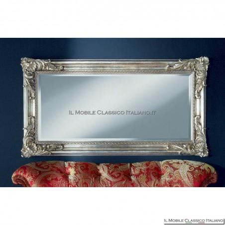 Specchio foglia argento