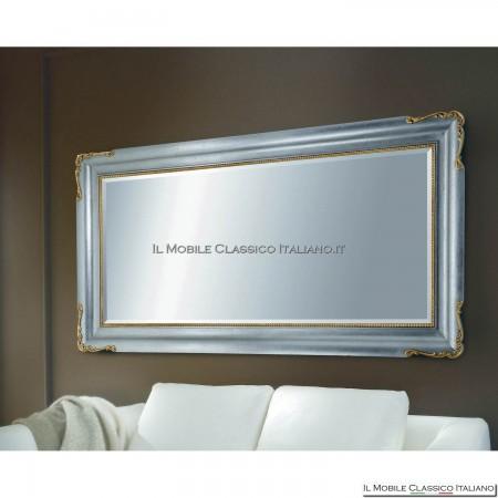 Specchiera specchio barocco rettangolare cornice intagliata cod. 1080