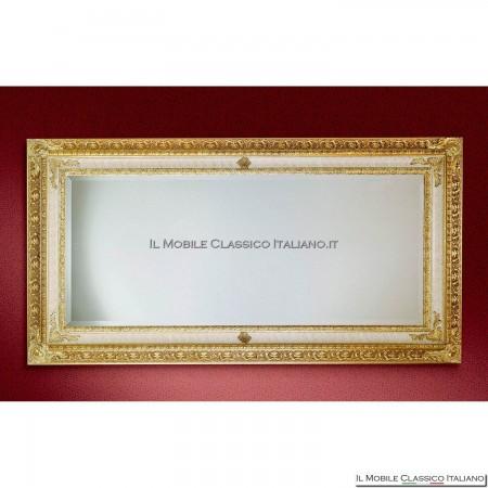Specchiera specchio barocco rettangolare cornice intagliata cod. 1091