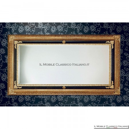 Specchiera specchio barocco rettangolare cornice intagliata cod. 1101