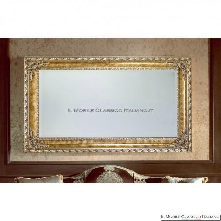 Specchiera specchio barocco rettangolare cornice intagliata cod. 1111