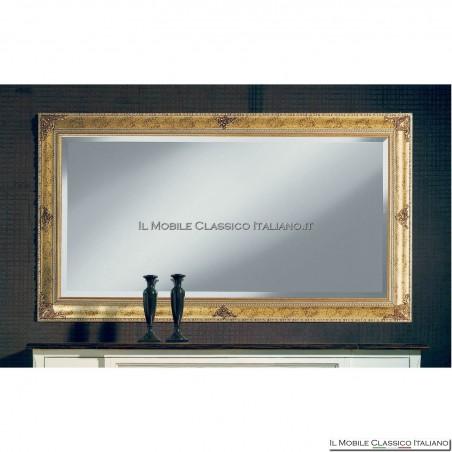 Specchiera specchio barocco rettangolare cornice intagliata cod. 1120