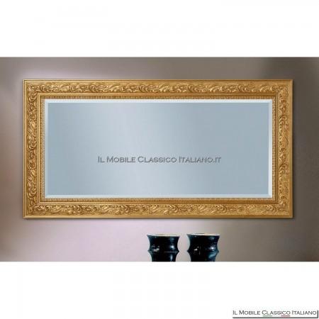 Specchiera specchio barocco rettangolare cornice intagliata cod. 1131
