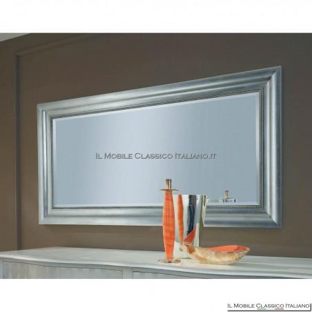 Specchiera specchio barocco rettangolare cornice intagliata cod. 1141