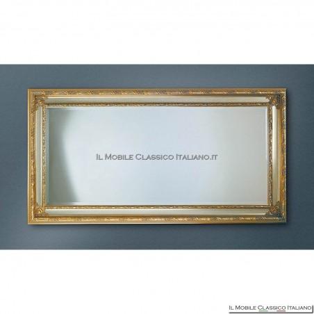 Specchiera specchio barocco rettangolare cornice intagliata cod. 1190