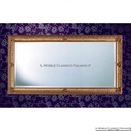 Specchiera specchio barocco rettangolare cornice intagliata cod. 1181