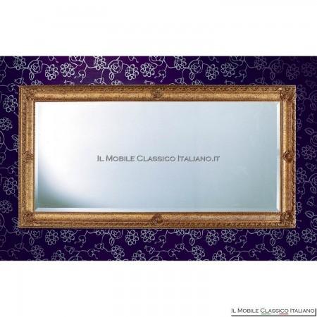 Specchiera specchio barocco rettangolare cornice intagliata cod. 1182