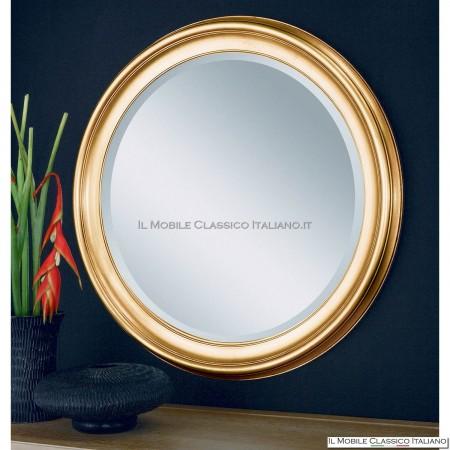 Specchiera legno liscia rotonda