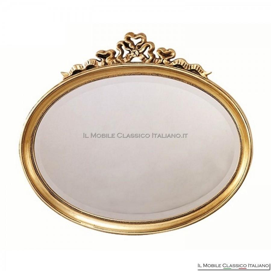 Specchio bagno classico specchiera bagno classica - Specchio ovale bagno ...