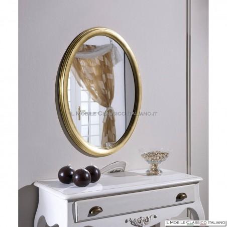 Specchiera rotonda oro liscia