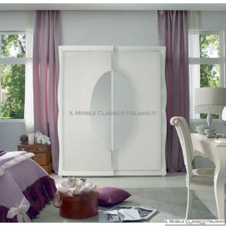 Armadio classico con specchio ovale
