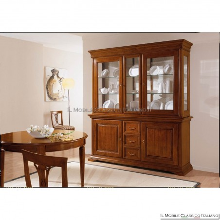 Cristalliera vetrina soggiorno classica