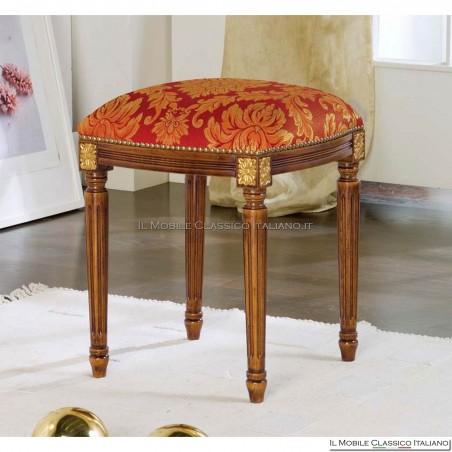 Pouff sgabello imbottito in legno massello art. 283