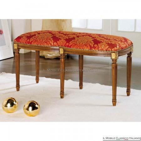 Pouff sgabello imbottito in legno massello art. 285