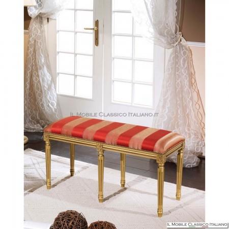 Pouff sgabello imbottito in legno massello art. 279/A