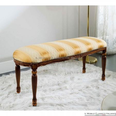 Pouff sgabello imbottito in legno massello art. 234