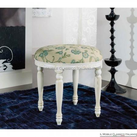 Pouff sgabello imbottito in legno massello art. 236