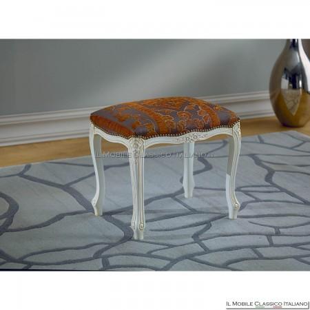 Pouff sgabello imbottito in legno massello art. 140