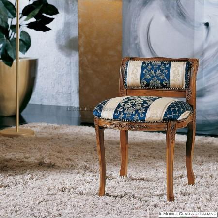 Pouff sgabello imbottito in legno massello art. 201