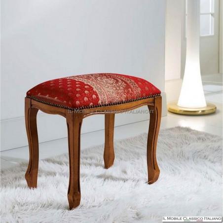 Pouff sgabello imbottito in legno massello art. 233