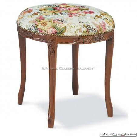 Pouff sgabello imbottito in legno massello art. 165