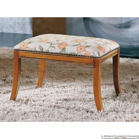 Pouff sgabello imbottito in legno massello art. 137