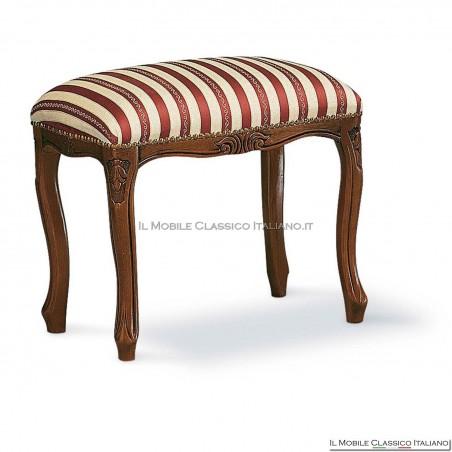 Pouff sgabello imbottito in legno massello art. 141