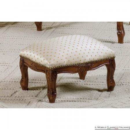 Pouff sgabello imbottito in legno massello art. 138