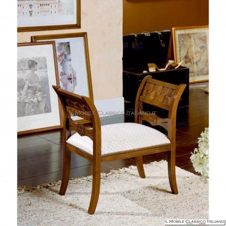 Panchetta imbottita in legno massello art. 124