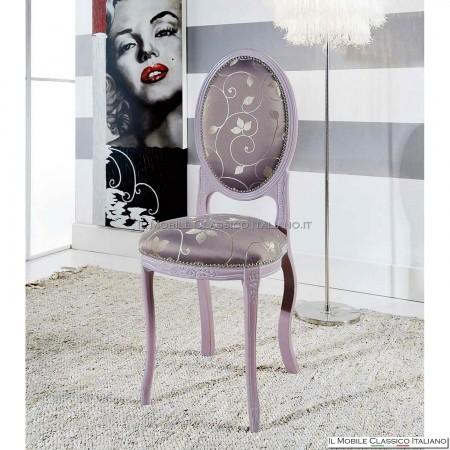 Sedia imbottita in legno massello art. 223