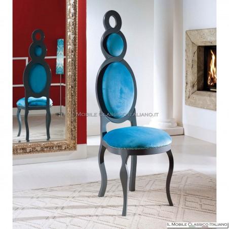 Sedia imbottita in legno massello art. 264