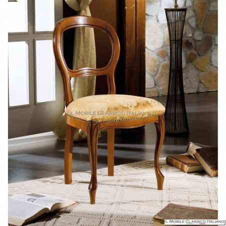 Sedia imbottita in legno massello art. 112
