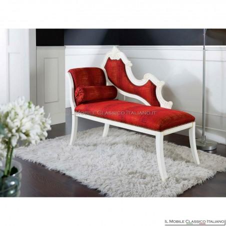 Dormeuse imbottita in legno massello art. 246