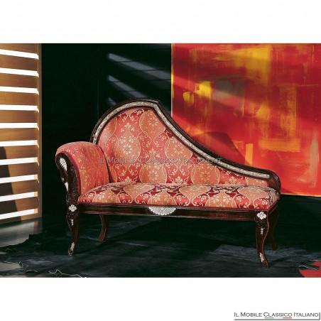 Dormeuse imbottita in legno massello art. 200