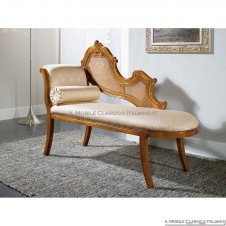 Dormeuse imbottita in legno massello art. 245