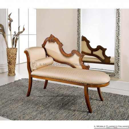 Dormeuse imbottita in legno massello art. 244