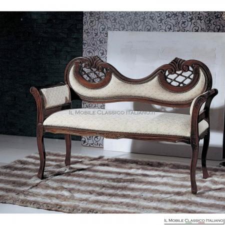 Divanetto imbottito in legno massello art. 215