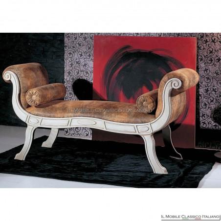 Dormeuse imbottita in legno massello art. 207