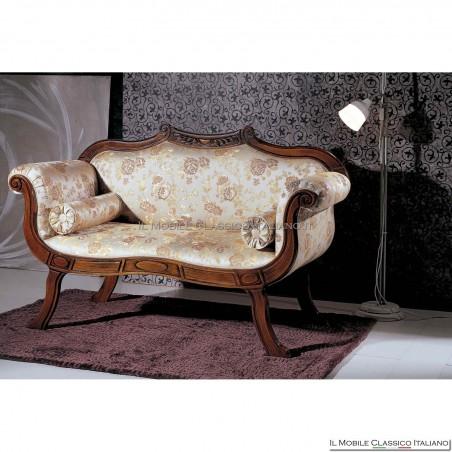 Divano imbottito in legno massello art. 206